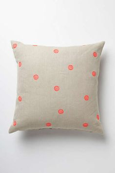 Anthropologie - Polka-Dotted Pillow