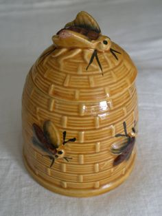 Vintage Japanese Bee Hive Honey Jar