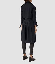 Women's Kiana Mac Coat (Ink Blue) - product_image_alt_text_2