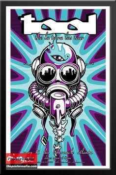 """The Tool - De la tera Bus Tour"" Concert, May, 15 at Atlanta, (CL) ~ Music Concert Poster. Music Artwork, Art Music, Tool Poster, Gig Poster, Tenacious D, Rock Band Posters, Concert Posters, Rock Art, Vintage Posters"