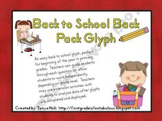 back to school backpack glyph (easy intro to glyphs)