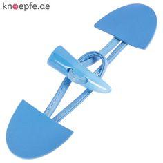 Dufflecoat Verschluss für Kinder aus Lederimitat in Hellblau mit Kunststoffknebel
