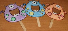 Blend Monsters - Search for blends - Use these for reading charts or helping children search for blends when reading and writing the room.