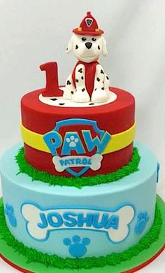 Paw Patrol Party A very cute Paw Patrol themed party by XOXO Events Australia Cake & cupcakes by Cake Lady Cakes Printables from Pea & Pearl. There are lots of fun and unique Paw Patrol P… Paw Patrol Chase Cake, Torta Paw Patrol, Paw Patrol Cupcakes, Paw Patrol Birthday Cake, Paw Patrol Party, Themed Birthday Cakes, Cake Disney, Australia Cake, Cake Designs For Boy