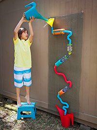 DIY kids craft: Build a Summer Water Wall (via Parents.com) complete tutorial!