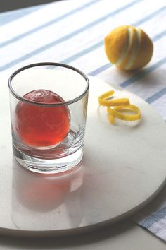 Negroni Cocktail Sphere by honestlyyum: Smash to serve. Negroni on the rocks! #Cocktail #Negroni #Sphere