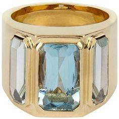 Preowned Aquamarine Gold Ring