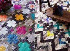 heck kilim rug by cultiver $1899