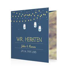 Hochzeitskarten set modern