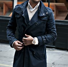 #fashion #menswear #street #style #trench #outfit #The Gentlemens Attire