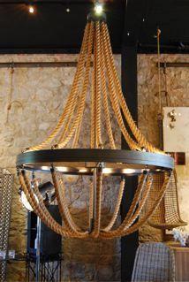 jute rope chandelier - Google Search