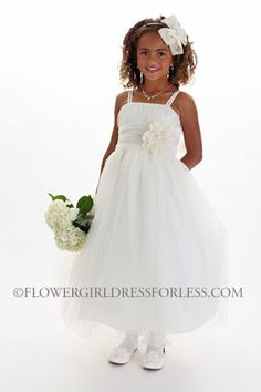 Flower Dress Style 2024 Spaghetti Strap With Ruched Tulle Bodice And Skirt Simple Cinderella For Less