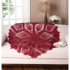 Mary Maxim - Free Lace Pineapple Throw Pattern