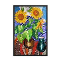 Bartos Art Framed Poster: SUNFLOWERS, Create a unique and personalized Ambiance in your Home and Office Timeless Beauty, Framed Art, Original Paintings, Alternative, Scene, Canvas Prints, Key, Canvases, Create