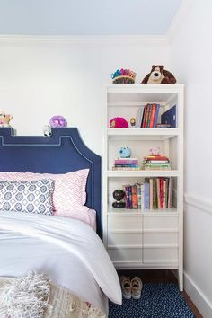 Blue and pink girl's bedroom