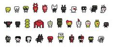 Roguelike characters (Oct by emimonserrate on DeviantArt 1 Pixel, Pixel Characters, 8bit Art, Pixel Art Games, Game Concept, Kawaii Art, 8 Bit, Game Character, Perler Beads