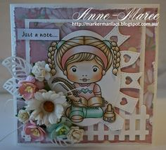 From our Design Team! Card by Anne-Maree Campbell featuring Quill Pen Marci and these Dies - Open Leaf Flourish, Random Flags Banner, Picket Fence :-) Shop for our products here - http://shop.lalalandcrafts.com/ Coloring details and more Design Team inspiration here - http://lalalandcrafts.blogspot.ie/2014/08/inspiration-monday-back-to-school.html