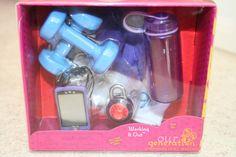 "Battat Our Generation 18"" Doll Working It Out Gym Weights Lock MP3 Set Set NIB #BattatOurGeneration"