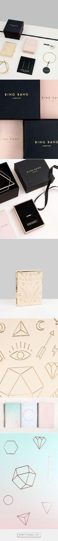 Bing Bang Jewelry Branding & Packaging designed by Verena Michelitsch PD #luxuryjewelrypackaging