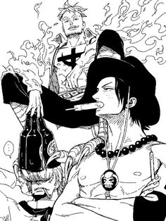 Marco the Phoenix, Thatch and Ace #one piece