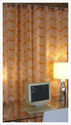 #etsy orange curtains
