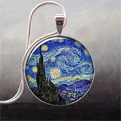 Van Gogh's Starry Night art pendant charm by thependantemporium, $8.95