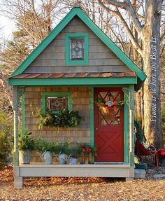 14 Whimsical Garden Shed Designs - Storage Shed Plans & Pictures Shed Design, House Design, Garden Design, She Sheds, Potting Sheds, Potting Benches, Building A Shed, Building Plans, Cabins And Cottages