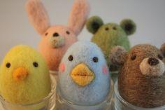 needle felted animal egg shape ball Eco friendly toy Pick 1egg animal. $18.00, via Etsy.