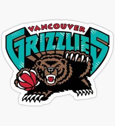 Memphis Grizzlies - Basketball Sports Embroidery Logo in 4 sizes - Logo Sticker, Sticker Design, Decal, Vancouver, Sports Team Logos, Notebook Stickers, Memphis Grizzlies, Basketball Teams, Basketball Scoreboard