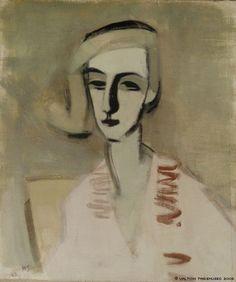 Helene Schjerfbeck - The Teacher, 1933, Painting:...