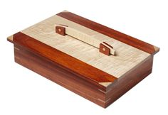 Keepsake box made from padauk and curly maple