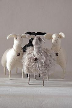 needle felted sheep