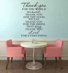 Thank you Lord Wall Decal  Thank you for by AmberMooreDesigns