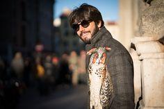 Hi, Buddies, E, mais uma vez, fui escolhido pela Salvatore Ferragamo para ir ao desfile da marca em Milão com um dos seus looks do última coleção. É sempre uma