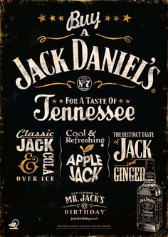 #CreativeFanClub // Jack Daniel's Tennessee is coming to town #campaign // #poster