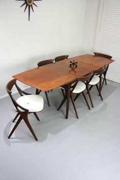 Rare Arne Hovmand-Olsen designed for Mogens Kold MID Century Danish Extension Extendable Dining Table Vintage Retro Teak Rosewood Denmark, VIC | eBay 360 Modern Furniture