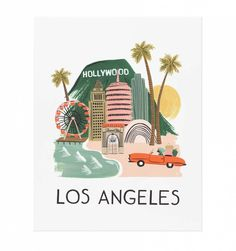 Los Angeles Illustrated Art Print / Rifle Paper Co