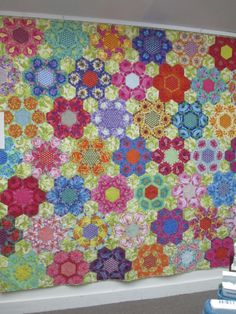 TumbleTalk: This Month - My Quilts.  Fussy-cut florals