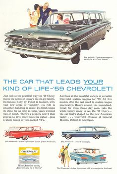 1959 Chevrolet Brookwood & Parkwood Station Wagons
