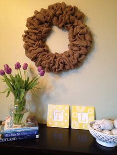"""DIY Fast & Easy Burlap Wreath """"Some Kind of Lovely Ride"""""""