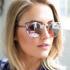 Gold Invader Sunglasses - Quay