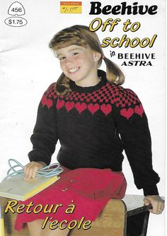 Items similar to Knitting PATTERN Beehive Off to School No 456 Sweaters Vests Hats Pullovers Vintage 1984 AliCraftPatterns Shop on Etsy Knitting Patterns, Crochet Patterns, Yarn For Sale, Fair Isle Pattern, Dk Weight Yarn, Vintage Knitting, Pattern Paper, Beehive, Christmas Sweaters