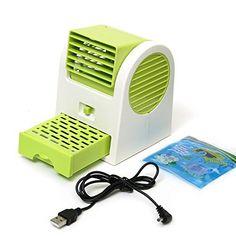 TOOGOO(R) Reglable Angles parfumee USB electrique climatisation Mini ventilateur Air Refroidisseur Vert