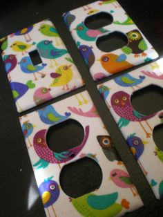 Whimsical Birdies Single LIght Switch plate by COUTURELIGHTPLATES, $16.00