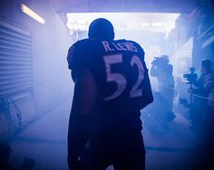 Ray Lewis inside the tunnel
