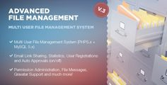 Advanced File Management . Multi user file management system v3.0 Administrator can create users and set their permissions (what users can see and do, what kind of files upload, set bandwidth limits, filesize limits). He also has statistics and activity logs, every users action goes into database logs. Admin can upload files