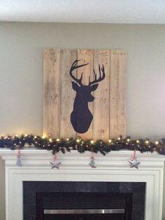 Deer Head Silhouette on Reclaimed Wood by customreclaimedart