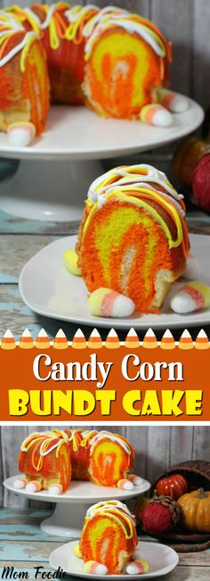 Candy Corn Bundt Cake or Cupcakes