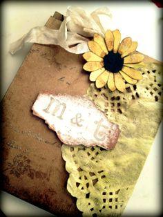 Wedding Invitation Handmade Yellow Daisy Black eyed susan Country Chic. $7.00, via Etsy.