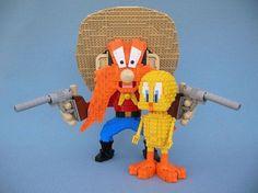 Legos Twitty bird and Calamity Sam